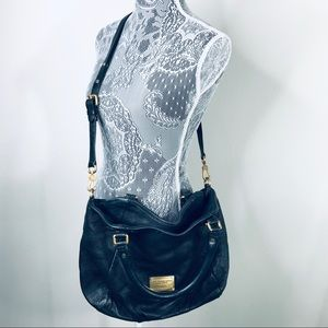 Marc Jacobs Black Leather Hobo Workwear Handbag